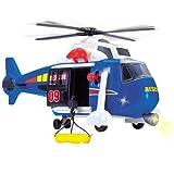 Dickie 41 cm Hubschrauber mit Bewegungs-Funktionen, Seilwinde, Licht und Sound: Funktionen Rettungshubschrauber Helikopter Kinder Spielzeug