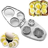 Eierschneider, 3 in 1, Edelstahl, manuelle Eierschneider - hart gekochte Eier Schneider Werkzeug - Küchenwerkzeug Gadget Free Size Wie abgebildet