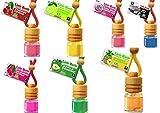 7 L&D Little Bottle Duftflakons fürs Auto und Wohnung BESTSELLER TESTPAKET: 1x Pinapple - Ananas, 1 x Bubble Gum - Kaugummi, 1 x Cherry -Kirsche, 1 x Green Apple - Apfel, 1 x Lemon - Zitrone , 1 x New Car, 1 x Watermelon - Wassermelone