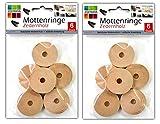 12x Kleidermotten Ringe Zedernholz | Mottenbekämpfung | Mottenschutz
