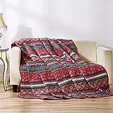 Qucover Baumwolle Tagesdecke, Steppdecke, Sommerdecke   150 x 200 cm, Patchwork Stil, für Mädchen/Kinder