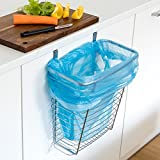 Tatkraft Top über Tür Abfall-Korb Küchenschrank - Abfallsammler zum Hängen 10L, Stahl Verchromt 17.8X31X35.6cm