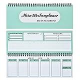 Tischkalender / Wochenkalender im Quer-Format / 54 Wochen, 1 Woche 2 Seiten / Ohne festes Datum für 365 Tage / Terminplaner 2018