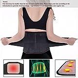 Bauchweggürtel,Charminer Rückengurt Rückenstützgürtel BauchgürtelFitnessgürtel Rückenbandage mit Stabilisierungsstäben+Atmungsaktiv+Schmerzlinderung/Wärmegürtel mit Turmalin+Selbsterwärmende Schwarz XL