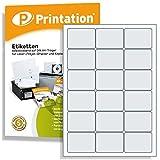 Universal Adress-Etiketten für Briefumschläge 63,5 x 46,6 mm klebend weiß 1800 63,5x46,6 Adressetiketten auf 100 DIN A4 Bogen 3x6 abgerundete Ecken - 4501 4265 6265 LA306 L7161