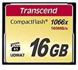 Transcend Ultimate CompactFlash 16GB Speicherkarte (1000x, 160MB/s Lesen (max.), Quad-Channel, VPG-20 Video Performance)