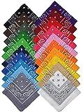 Bandana Halstuch Biker Nikki Tuch Schal Paisley Kopftuch 100% Baumwolle 25 Farben (12er, Gemischt mit Ihrer Auswahl)