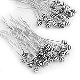 Easy Provider 50 Nadel Nietstifte Stifte Kopfstifte 55mm Silber Farbe