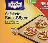 Toppits Gefaltete Back-Bögen, 7 x 18 Stück, Format: 42 x 38 cm, Anti-Haft-Struktur, Braun