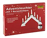 Idena 8582067 - Adventsbogen mit 7 Kerzenlichtern, weiß, ca. 30 x 40 cm