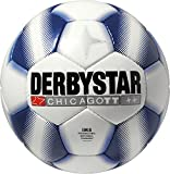 Derbystar Fußball Chicago TT, Trainingsball, Ball Größe 5 (420 - 440 g), weiß blau, 1242