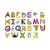 SOLINI Holzbuchstaben mit Tiermotiven (Holzbuchstabe - A)