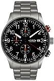 Astroavia Herren-Armbanduhr Chronograph Quarz Edelstahl N38S