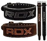 RDX Powerlifting Gewichthebergürtel Rindsleder Bodybuilding Crossfit Fitness Trainingsgürtel Gym weightlifting Belt Krafttraining