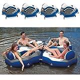 4X Intex River Run Lounge Badeinsel Pool Liege Luftmatratze Sessel groß 130x126