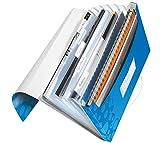 Leitz 45890036 Fächermappe WOW, A4, 6 Fächer, PP, blau metallic