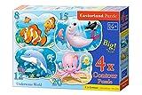 Castorland B-043026 - Underwater World, 4 x Puzzle, 8+12+15+20 teile