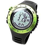 LAD WEATHER Herrenuhr Höhenmesser Digitaler Kompass Kalorienverbrauch Sturmwarnung (gr-no)