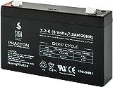 SIGA Batterien AGM Phaeton Deep Cycle (7.2Ah, 6V) schwarz