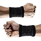 1Paar Kompression Wrist Bands Support Brace Schweißband für Sport Fitness Basketball Tennis Gewichtheben Gym Arthritis