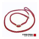Wolters | Moxonleine Everest reflektierend in Rot/Schwarz | L 180 cm x B 0,9 cm
