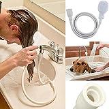Glanz einzigen Dusche Spray Schlauch Badewanne Waschbecken Spray Wasserhahn Aufsatz Waschen Innen PVC