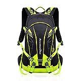 Fahrrad Rucksack 20L Multifunktionaler Wanderrucksack Wasserdicht mit Regen Cover Helm für Sport Reiten Reisen Camping