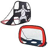 Virhuck 2 in 1 Tragbare und Faltbare Pop Up Fußballtor, Geschenke für Kinder,Indoor und Outdoor Sport Schießübungen Selbstaufstellende Fußballtor, mit Tragetasche(105*75*75cm) - Rot