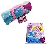 Disney Princess Kinder Reisedecke, Bettdecke, Tagesdecke, Fleece 120 x150 cm, Maschinenwäsche