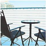 com-four Blickdichter Balkon-Sichtschutz - Balkonumspannung mit Kordel zur Befestigung - auch als Windschutz und Sonnenschutz geeignet (1 Stück - 600 x 90cm - grau/weiß)