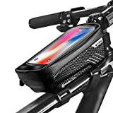 BAONUOR Fahrrad Rahmentasche Fahrrad Handytasche Lenkertasche Wasserdicht mit TPU Touchscreen Fahrradtasche Fahrrad Oberrohrtasche für iPhone 8 Plus/X/XS Max/XR/Samsung S8 Plus/S9 Handy