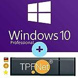 MS Windows 10 Pro 32 bit & 64 bit - Original Lizenzschlüssel mit bootfähigen USB Stick von - TPFNet