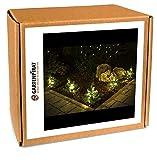 5x Tanne mit LED beleuchtet für Blumenkasten Garten Deko Weihnachten von Gartenpirat
