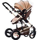 ZXLDP Kinderwägen High Landscape Baby Kinderwagen / kann sitzen oder liegen gefaltet Baby Multifunktions-Zwei-Wege-Allrad-Trolley Prams