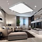 VINGO 60W LED Deckenleuchte Kaltweiß Sternenhimmel Wohnzimmerlampe Küchenleuchte Deckenbeleuchtung Panel Lüster Ultraslim Schlafzimmer Esszimmer energiesparend