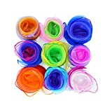 EXQULEG [9 Pieces-9 Colors Kindergarten Tücher Chiffon Kinder Spielen Tanz ,Jonglieren Tücher Mehrfarbige Schals