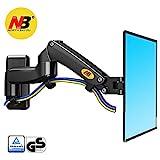 NB North Bayou Monitor Wandhalterung TV Ausziehbar Fernseher Halterung Schwenkbar Neigbar Universal LCD Wandhalter Curved 4K OLED QLED LED Flachbildfernseher VESA (Schwarz17'-27' F150B)