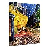 Bilderdepot24 Kunstdruck - Alte Meister - Vincent Van Gogh - Caféterrasse am Abend - 60x80cm einteilig - Leinwandbilder - Bild auf Leinwand