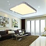 VINGO 60W LED Deckenleuchte Warmweiß Sternenhimmel Wohnzimmerlampe Küchenleuchte Deckenbeleuchtung Panel Lüster Ultraslim Schlafzimmer Esszimmer energiesparend
