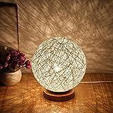 BALALALA Für Rattan Ball Stil Energiesparende Nachtlicht Lampenschirm Home Esszimmer Dekoration Lampen Nachttischlampe LED Für Schlafzimmer Geschenk, Weiß