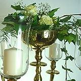Blumenschale Silber / Gold / Weissfarbend 16cm Durchm. für Kerzenleuchter Kerzenständer Wedding Ohne Blumen (Gold farbend)