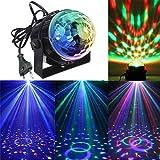 KINGSO Mini LED Lichteffekte Disco Licht Party Licht Bühnenbeleuchtung 3W RGB Sprachaktiviertes Kristall Magic Ball Bühnenlicht für Show Disco Ballsaal KTV Stab Stadium Club Party