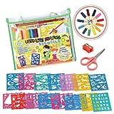 STENZTIME Ultimatives Schablonen-Set | Großes 70-teiliges Schablonen Zeichen-Kit und über 260 Formen | Ideales Spielzeug mit pädagogischem Mehrwert zur Förderung der Kreativität