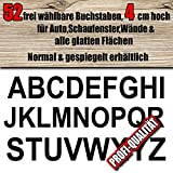 52 wetterfeste Buchstaben Aufkleber 4 cm höhe für innen/aussen, frei zusammenstellbar nach Ihren Wünschen, Große Farb & Schriftartauswahl, für Auto, Schaufenster, Wände & alle glatten Flächen, Blitzschneller Versand, Made in Germany, Wunschtext, Buchstabe, Sticker, Aufkleber, Normal oder gespiegelt lieferbar ,Klebebuchstaben,Ziffern,A-Z, Alphabet