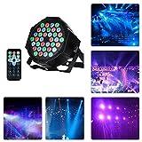 LED PAR Licht,36 LEDs RGB 7 Beleuchtung Modi party Licht Bühnenbeleuchtung Fernbedienung DMX Steuerung Discolicht für DJ KTV Disco Party
