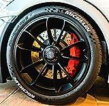 4 x Tire Style Reifenaufkleber - Michelin- Farbe: weiß Reifenschrift Reifen Aufkleber (17 Zoll)