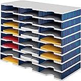 Sortierablage Trio PS grau/blau 24 Fächer Fach-H.57mm B.723xH.331mm