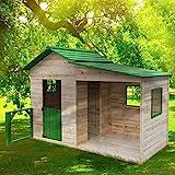 BRAST Spielhaus'Gartenlaube' für Kinder 3qm 244x124x174cm Tannenholz 12mm Kinder-Haus Spielehaus Garten Holz-Haus