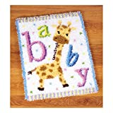 Vervaco PN-0149292 VER Knüpfteppich Baby Giraffe II