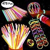 200 Knicklichter Party Set, Premium Armbänder, Ketten, Set für Brillen, Dreifach Armbänder, ein Stirnband, Ohrringe, Blumen, ein Leuchtball und vieles mehr mit 275 Verbindungen und einer Gebrauchsanwe